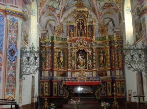 Intérieur de la chapelle à Peisey-Nancroix - Savoie