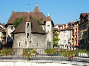 Palais de l'Ile ou Vieilles Prisons dans la vieille ville d'Annecy